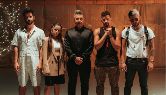 Ricardo Montaner se reúne con sus hijos y Camilo para cantar Amén